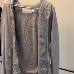 Jcrew fleece zipper sweatshirt
